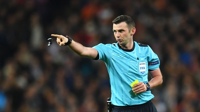 Michael Oliver will officiate West Ham v Stoke on Monday Night Football