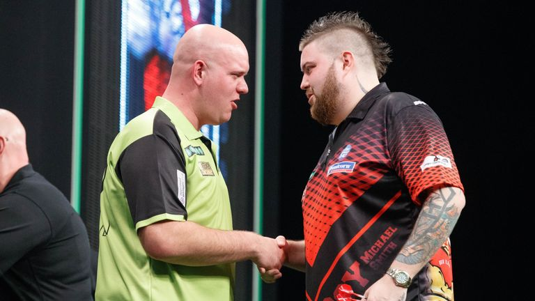 Van Gerwen and Smith occupy the top two places after blistering starts to the competition
