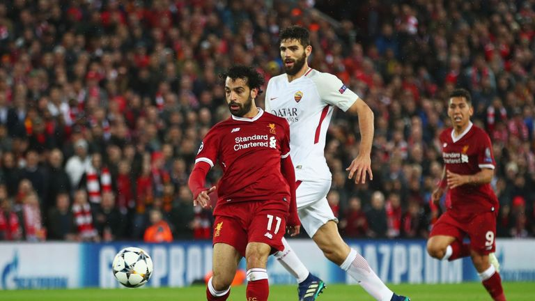 Mohamed Salah will return to his former club after the 5-2 first leg win