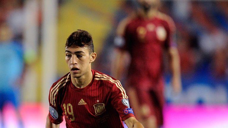 Munir El Haddadi played for Spain in a European Championship qualifier in 2014
