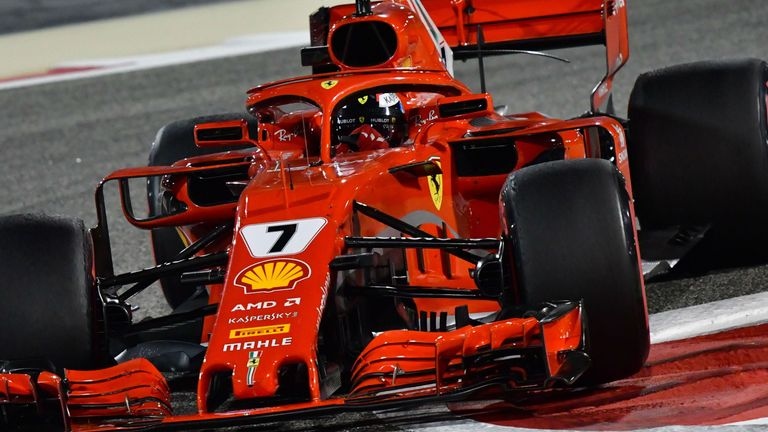 Kimi Raikkonen Takes Friday Practice in Bahrain