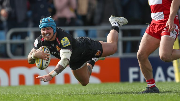 Jack Nowell scored two tries on his return from injury
