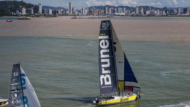 Peter Burling's Team Brunel takes out leg seven of Volvo Ocean Race