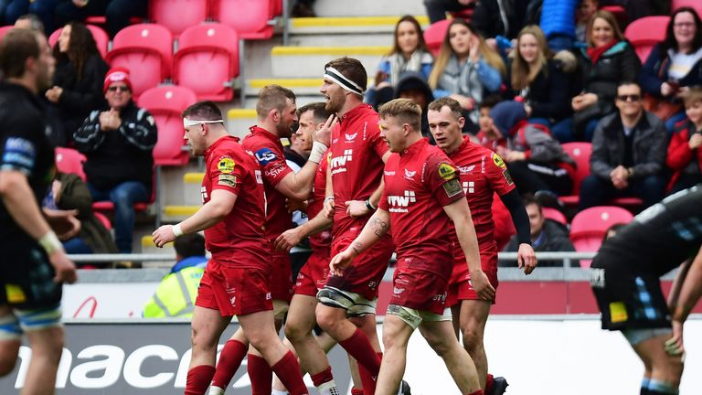 Scarlets beat Leinster in the PRO12 semi-finals last season