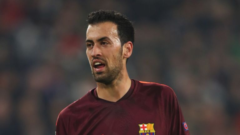 Sergio Busquets is one of four players given captain's responsibilities by Barcelona for the upcoming season