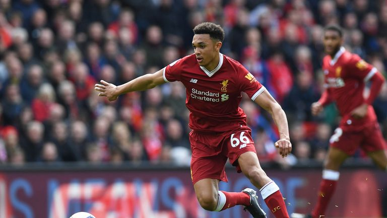 Trent Alexander-Arnold was recognised by Liverpool