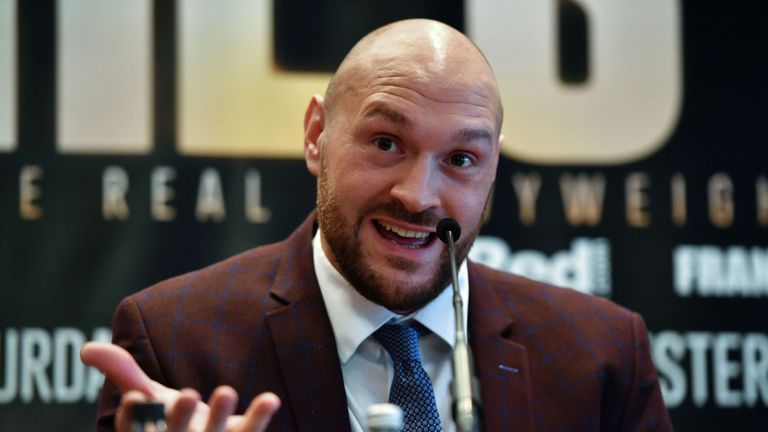 Tyson Fury confirms ring return in June