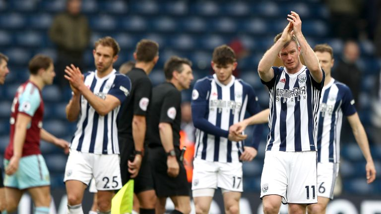 West Brom are on the brink of relegation from the Premier League
