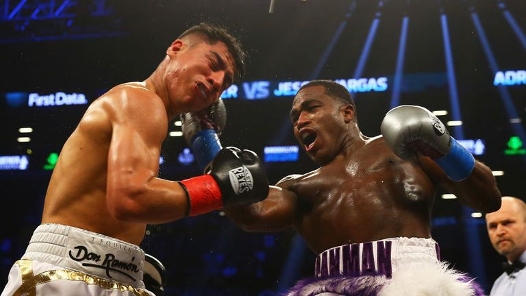 NEW YORK, NY - APRIL 21:  Adrien Broner punches Jessie Vargas during their Welterweight bout at Barclays Center on April 21, 2018 in New York City.  (Photo by Mike Stobe/Getty Images)