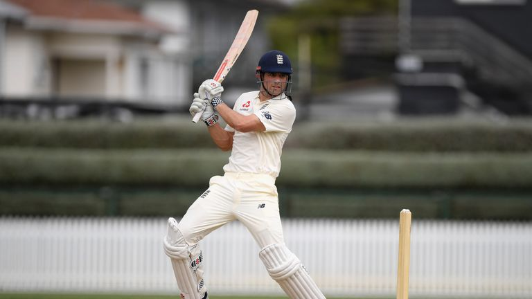 during day two of the Test warm up match between England and New Zealand Cricket XI at Seddon Park on March 17, 2018 in Hamilton, New Zealand.