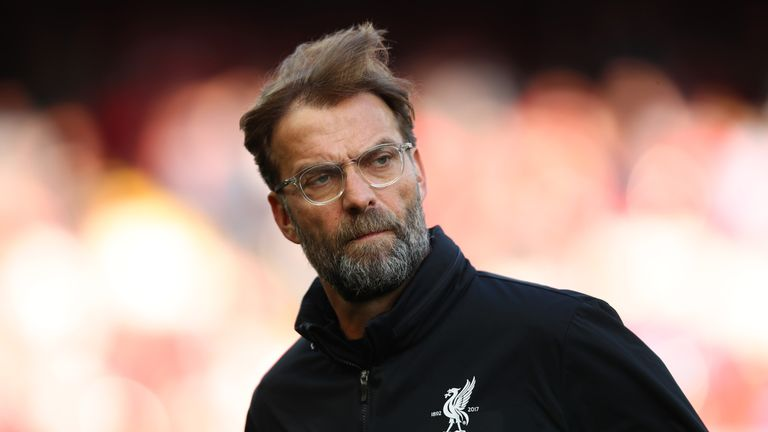 Jurgen Klopp during the Premier League match between Liverpool and AFC Bournemouth at Anfield on April 14, 2018 in Liverpool, England.