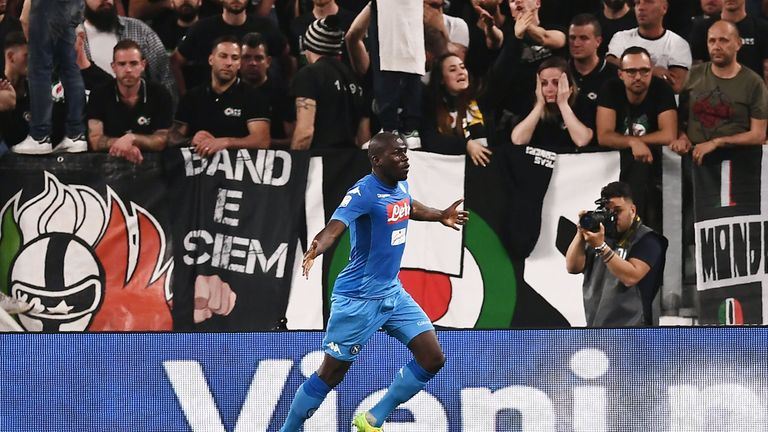 Kalidou Koulibaly scored the winning goal for Napoli on Sunday