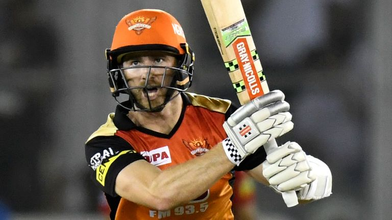 Kane Williamson hit fifty for Sunrisers but couldn't prevent them from slipping to a first IPL defeat of the season (Credit: AFP)