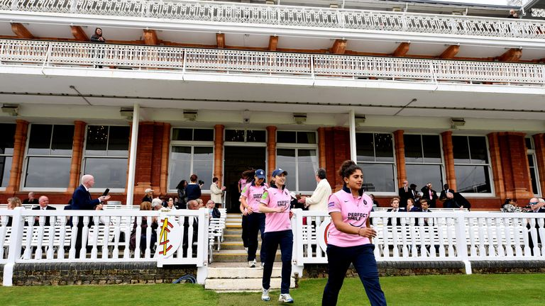 Middlesex Women walk out at Lord's for the first time