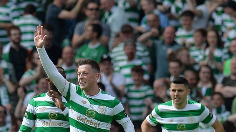 Callum McGregor put Celtic ahead on 11 minutes with a fine strike