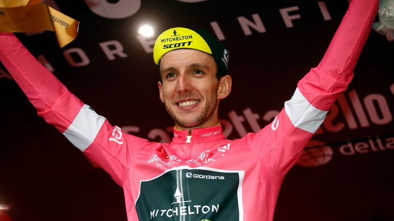 Simon Yates retains the pink jersey after safely finishing in the peloton