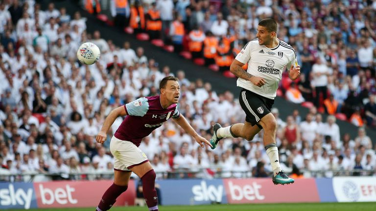 Mitrovic played all 90 minutes of Fulham's 1-0 win over Aston Villa in the play-off final at Wembley yesterday