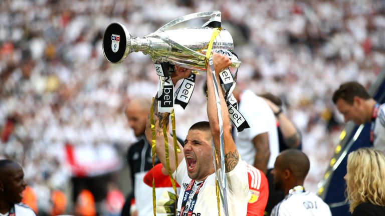 Mitrovic helped Fulham secure their place in the Premier League in May