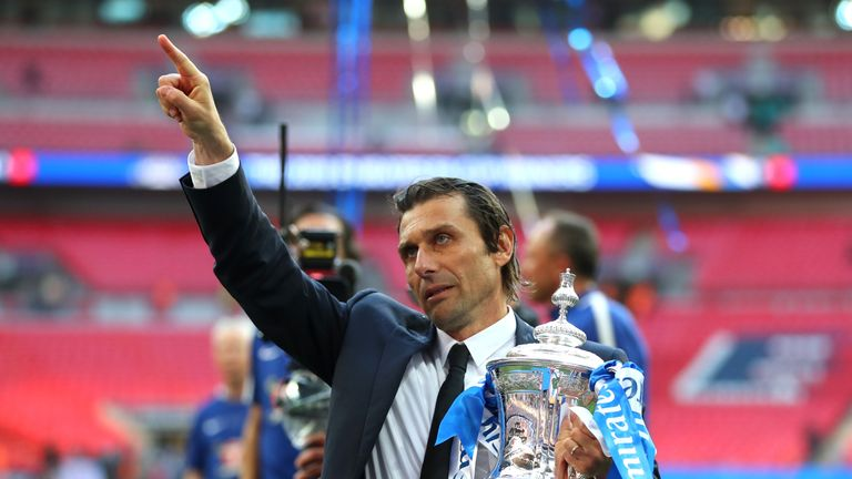 Antonio Conte finished the season with FA Cup success at Wembley