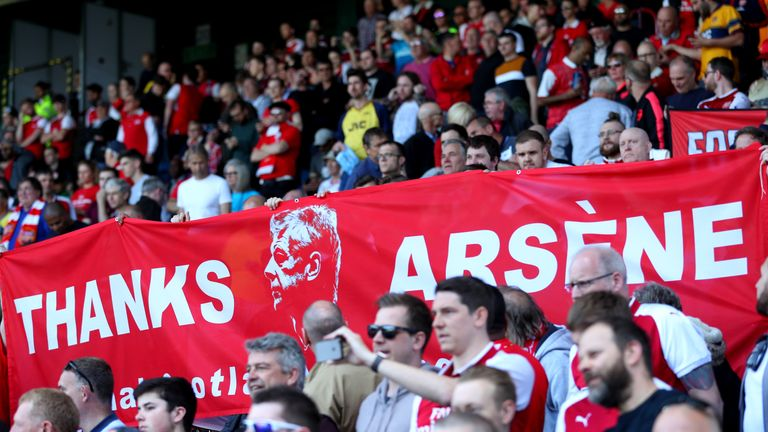 Arsenal fans paid tribute to Arsene Wenger but Gary Neville fears for the 'big job' his successor will inherit