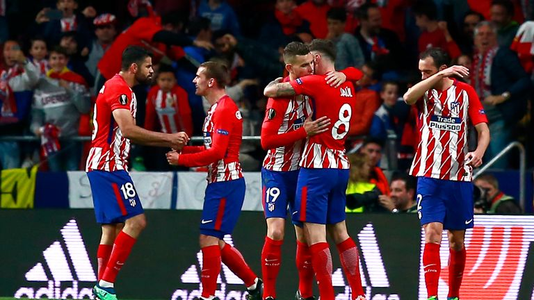 Atletico face Marseille in the final after seeing-off Arsenal in the semis