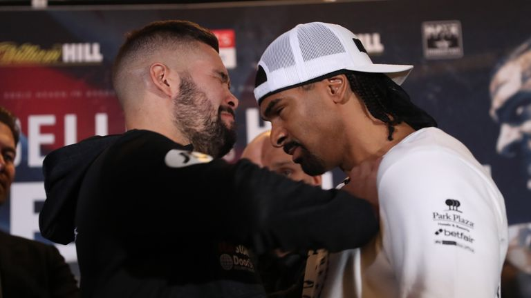 Bellew and Haye met twice in emotionally charged heavyweight fights