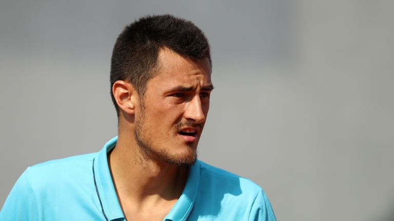 Kyrgios withdrawal leaves Tomic without an opponent