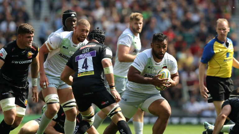 No 8 Billy Vunipola put his injury worries behind him to score the opening try