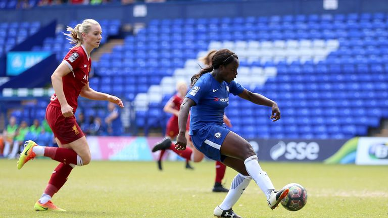 Aluko scored 47 league goals for Chelsea ladies over two spells