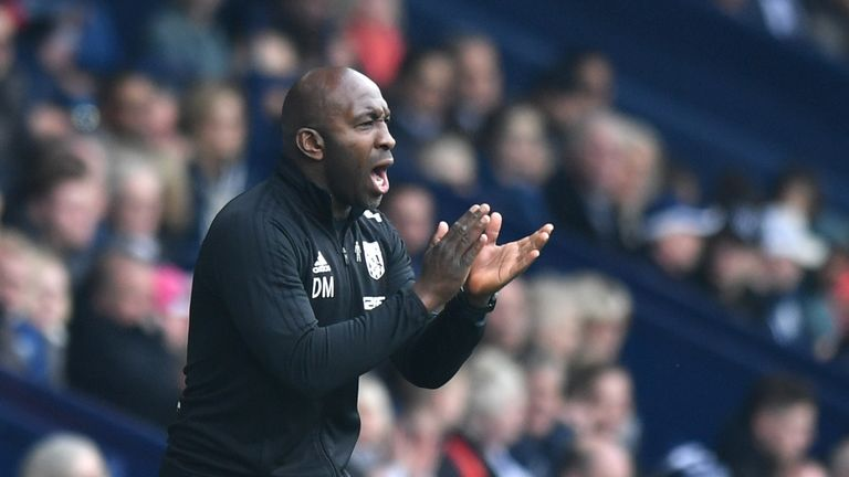 West Brom interim manager Darren Moore is preparing his side to face Spurs