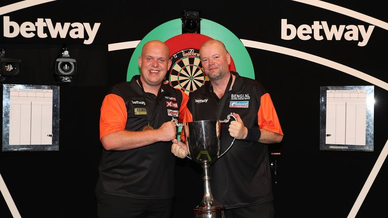 Micheal van Gerwen and Raymond van Barneveld will begin the defence of their title against Gibraltar