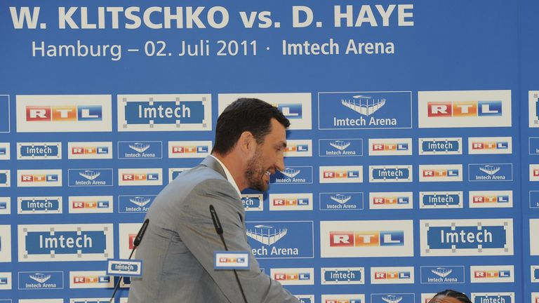 Haye had a fiery build-up with Klitschko but lost the fight