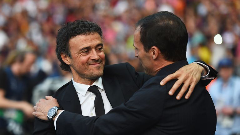 Massimiliano Allegri and Luis Enrique are the frontrunners to replace Wenger