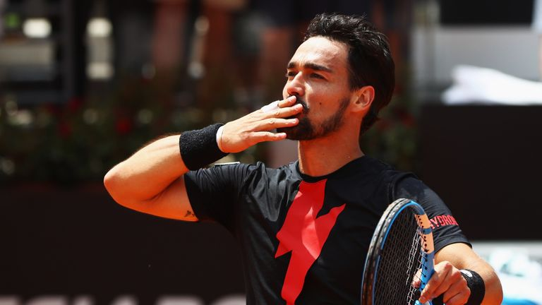 Fognini will take on Nadal in a tasty quarter-final clash on Friday