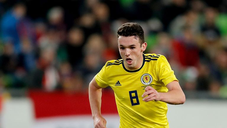 McGinn has nine caps for Scotland