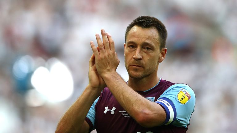 John Terry signed a one-year deal with Aston Villa last summer