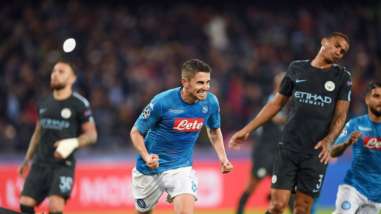 Jorginho scored against Manchester City in the Champions League in November