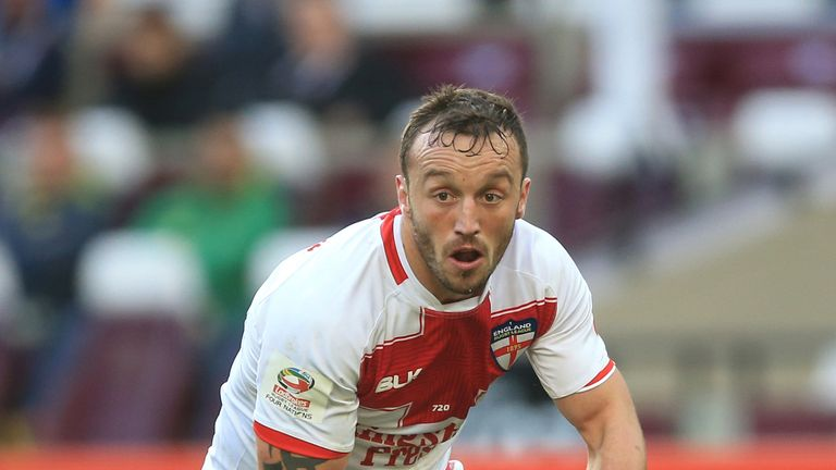 Josh Hodgson in action for England
