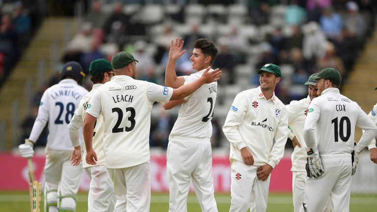 Josh Tongue took 4-45 as Worcestershire bowled Essex out for 177
