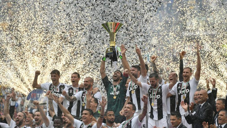 Juventus are aiming for an eighth Serie A title in a row