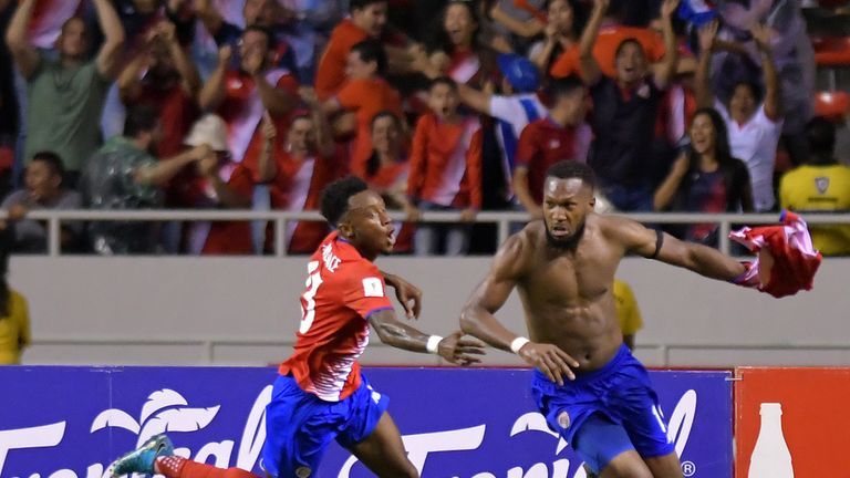 Ian Smith comes on for Costa Rica, Football Twitter goes wild