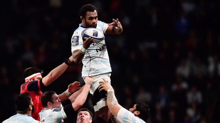 Ryan lifts second row partner Leone Nakarawa at a lineout - the two have forged a potent combintion