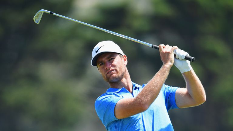 Lucas Bjerregaard shares the early lead with Evans