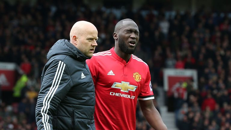 Romelu Lukaku limped out of Manchester United's win over Arsenal