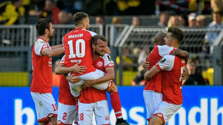 Mainz beat Borussia Dortmund 2-1