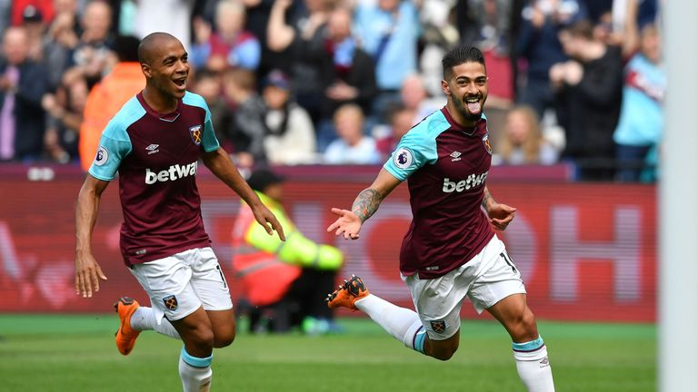 West Ham beat Moyes' former club Everton 3-1 on Sunday