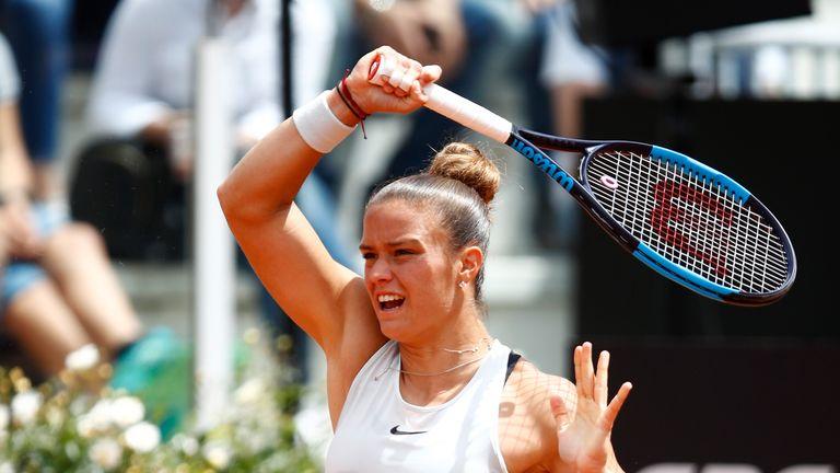 Sakkari upset Pliskova to continue her good form on clay