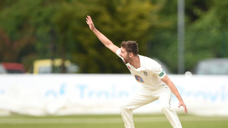 Mark Wood took one wicket for Durham on day two against Derbyshire