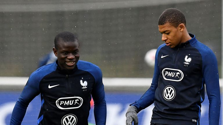 PSG's Kylian Mbappe: Chelsea's N'Golo Kante would 'suit our team perfectly'