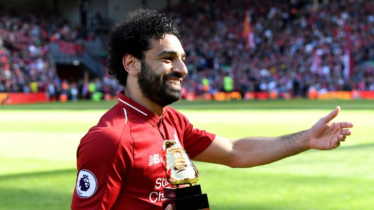 Mohamed Salah won this season's Premier League Golden Boot with 32 goals